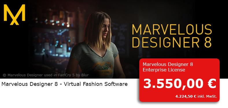 3dpowerstore Marvelous Designer 8 Von Clo Virtual Fashion