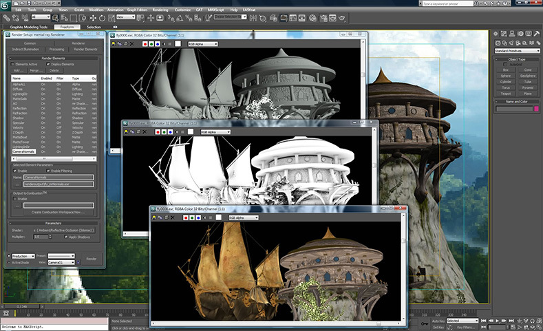 Autodesk 3DS max 2010 student version.